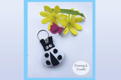 Kids Handmade Key Rings Ladybug Key Rings Cute Cartoon Lady Bug Felt Handmade